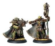 Hordes: Circle Orboros Reeve Of Orboros Chieftain And Standard Unit Attachment (white Metal) Box Front