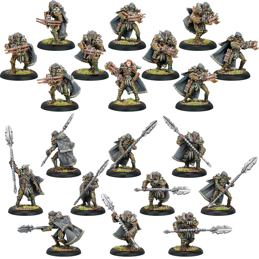 Hordes: Circle Orboros Reeves & Wolves Unit (plastic) Box Front