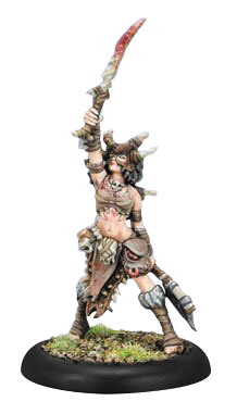 Hordes: Circle Orboros Bloodweaver Night Witch Solo (white Metal) Box Front