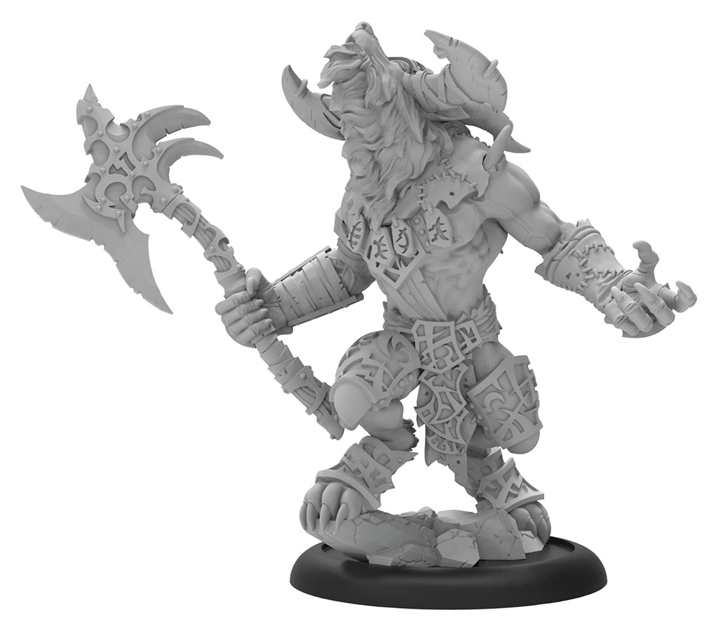 Hordes: Circle Orboros Ghetorix Warpwolf Heavy Warbeast (resin And White Metal) Box Front