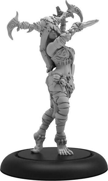 Hordes: Circle Orboros Tharn Bloodweaver Haruspex Command Attachment (white Metal) Game Box