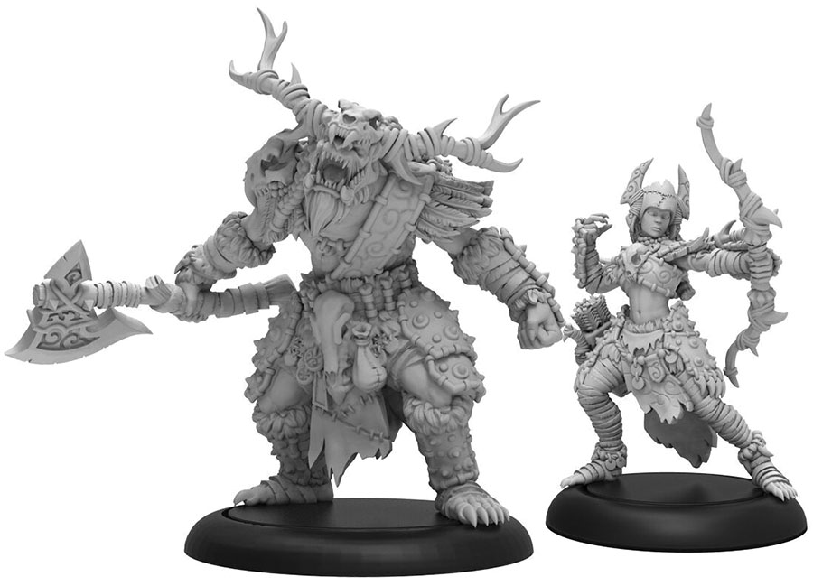 Hordes: Circle Orboros Brighid & Caul Character Unit (resin And White Metal) Game Box