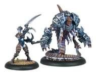 Hordes: Legion Of Everblight Bethane, Voice Of Everblight And Belphagor Blighted Nyss Warlock And Character Light Warbeast (white Metal) Box Front