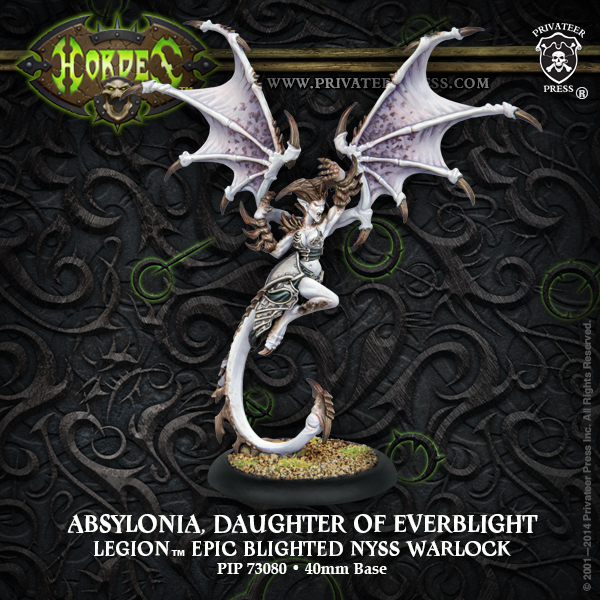 Hordes: Legion Of Everblight Nephilim Protector Light Warbeast (plastic) Box Front