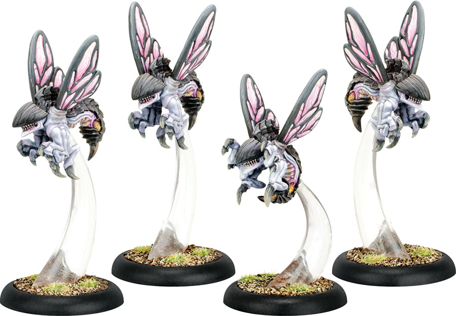 Hordes: Legion Of Everblight Wasps Warbeast (white Metal) Box Front
