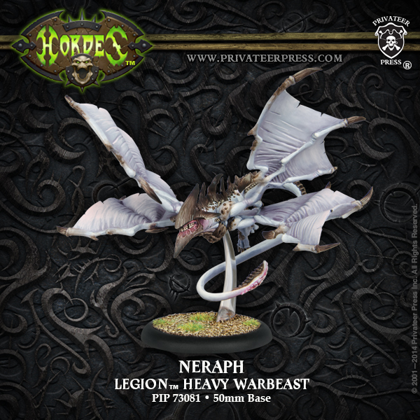 Hordes: Legion Of Everblight Neraph/seraph Heavy Warbeast (plastic) Box Front