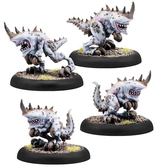 Hordes: Legion Of Everblight Shredders Lesser Warbeasts (4)(plastic) Box Front