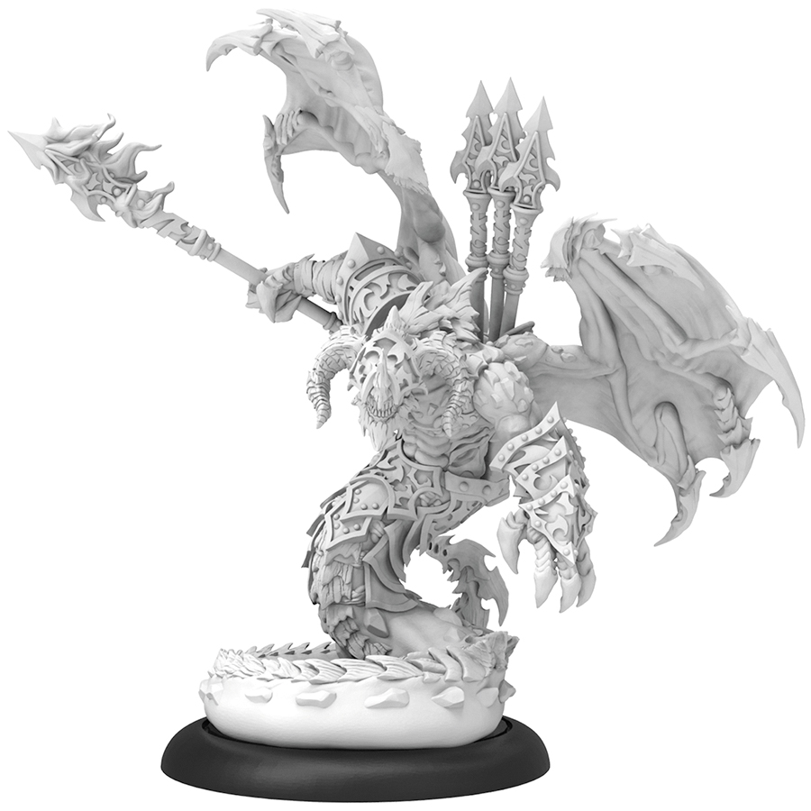 Hordes: Legion Of Everblight Azrael Nephilim Heavy Warbeast (resin And White Metal) Box Front