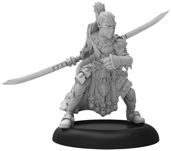 Hordes: Legion Of Everblight Blighted Nyss Warlord Solo (white Metal) Box Front