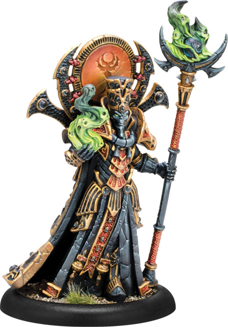Hordes: Skorne Zaal, The Ancestral Advocate Epic Warlock (resin And White Metal) Box Front
