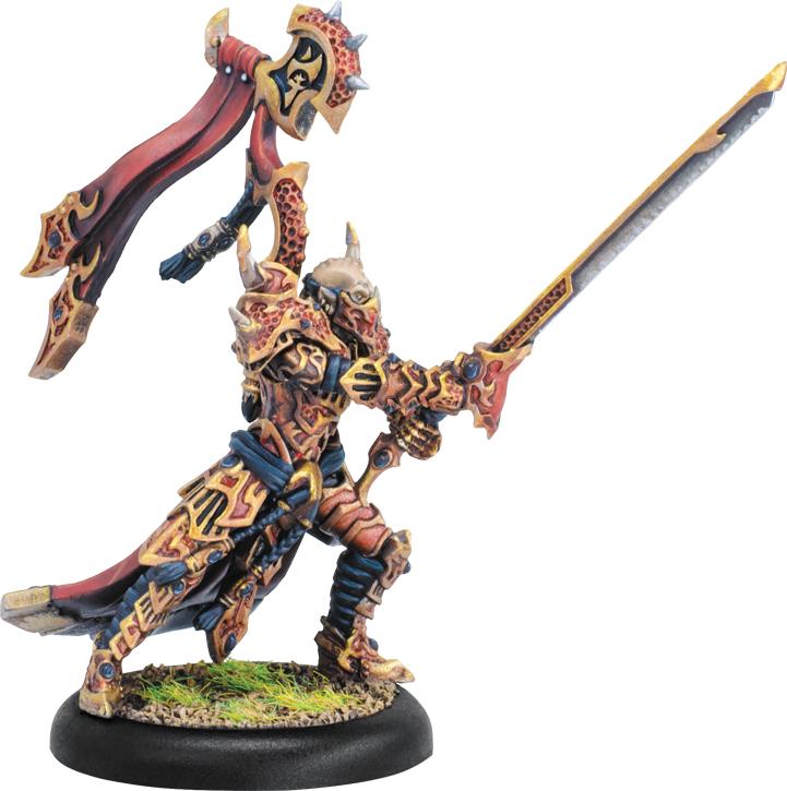 Hordes: Skorne Lord Tyrant Zaadesh Warlock (white Metal) Box Front