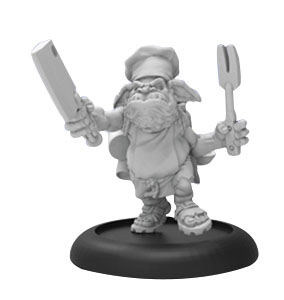 Hordes: Minions Swamp Gobber Chef Solo (white Metal) Box Front