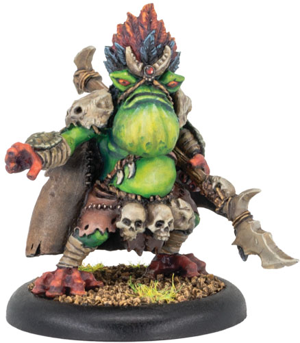 Hordes: Minions Underchief Mire Croak Solo (resin And White Metal) Game Box