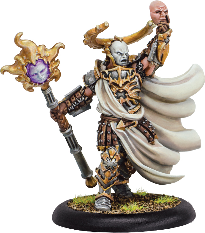 Hordes: Grymkin The Heretic Warlock (resin And White Metal) Box Front