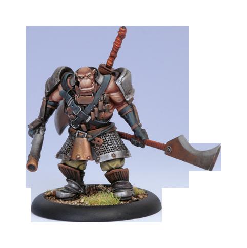 Iron Kingdoms Full Metal Fantasy Rpg: Ogrun Fighter (white Metal) Box Front
