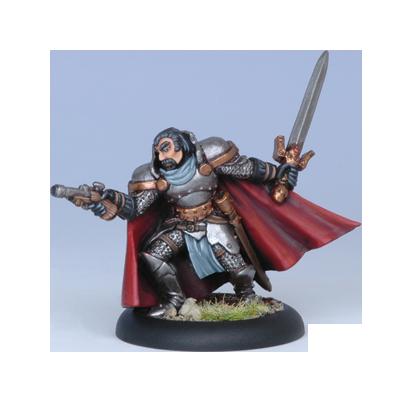 Iron Kingdoms Full Metal Fantasy Rpg: Captain Julian Helstrom (white Metal) Box Front