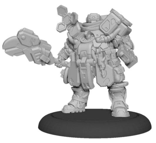 Warcaster: Marcher Worlds Combat Engineer Solo (metal)