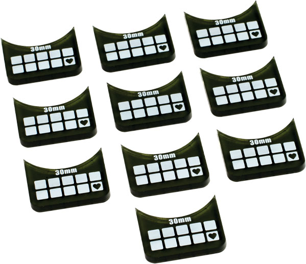Accessories: Small-base Wound Markers (10) Box Front