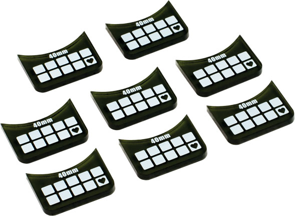 Accessories: Medium-base Wound Markers (8) Box Front