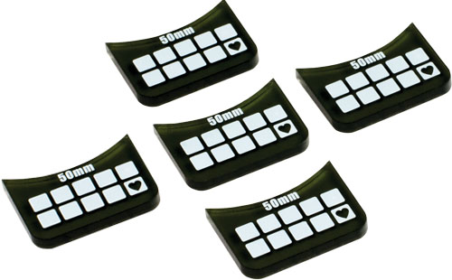Accessories: Large-base Wound Markers (5) Box Front
