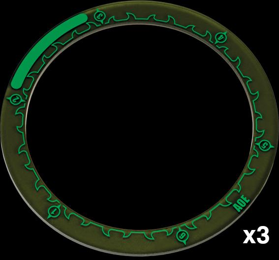 Hordes: Area Of Effect Ring Markers 4in Box Front