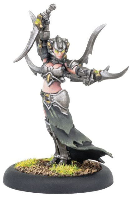 Warmachine: Cryx Warwitch Initiate Deneghra Warcaster (white Metal) Game Box