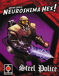 Neuroshima Hex: Steel Police Expansion (2.5 Edition Compatible With 3.0 Edition) Box Front