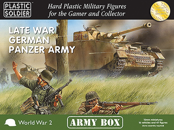 15mm Easy Assembly: Late War German Panzer Army Box Box Front