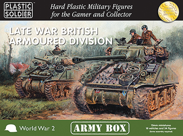 15mm Easy Assembly: Late War British Armoured Division Box Box Front