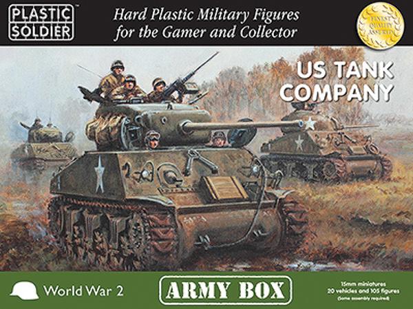 15mm Easy Assembly: Us Tank Company Army 1944 Box Box Front