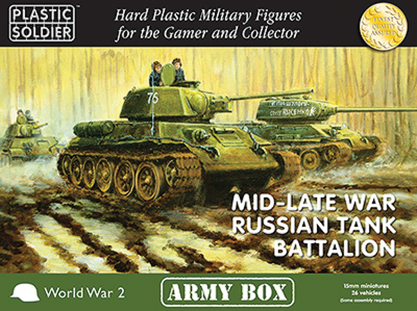 15mm Easy Assembly: Mid And Late War Russian Tank Battalion Box Box Front