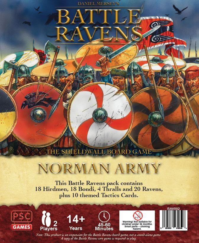 Battle Ravens:  Norman Army Game Box
