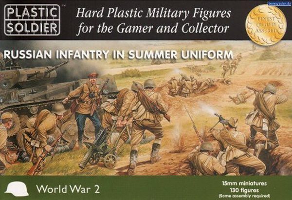 15mm Easy Assembly: Russian Infantry In Summer Dress Box Front