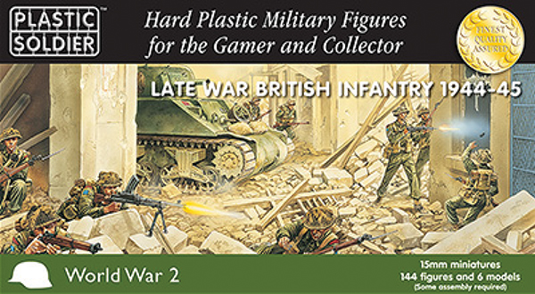 15mm Easy Assembly: Late War British Infantry 1944-45 Box Front