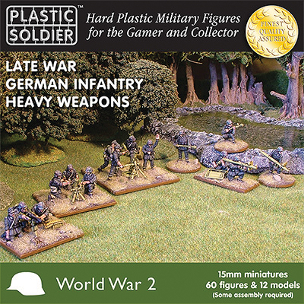 15mm Easy Assembly: Late War German Heavy Weapons Box Front