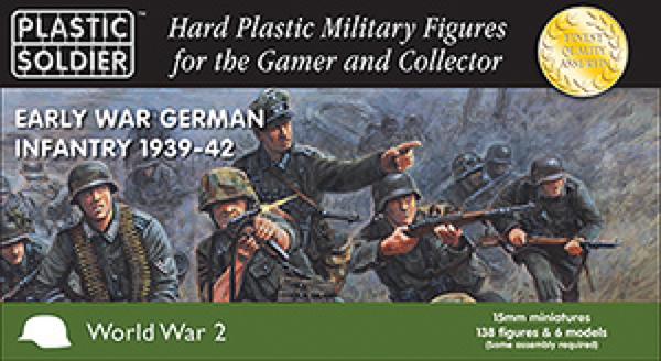 15mm Easy Assembly: Early War German Infantry 1939-42 Box Front
