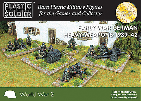 15mm Easy Assembly: Early War German Heavy Weapons 1939-42 Box Front