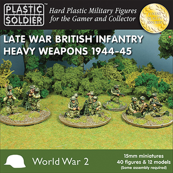15mm Easy Assembly: Late War British Heavy Weapons 1944-45 Box Front