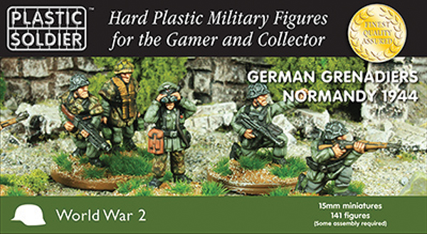 15mm Easy Assembly: German Grenadiers In Normandy 44 Box Front