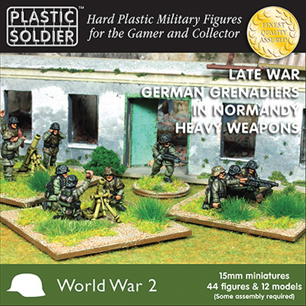 15mm Easy Assembly: German Grenadiers In Normandy Heavy Weapons Box Front