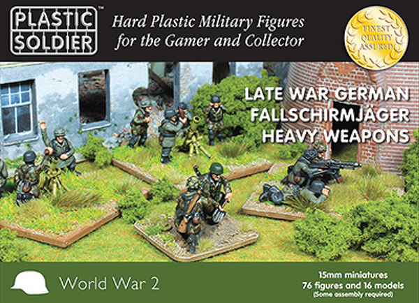 15mm Easy Assembly: German Falschirmjaeger Heavy Weapons Box Front