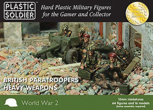 15mm Easy Assembly: British Paratroopers Heavy Weapons Box Front