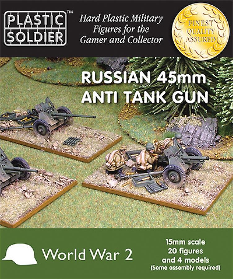 15mm Easy Assembly: Russian 45mm Anti Tank Gun Box Front