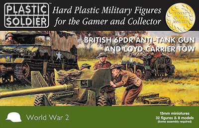 15mm Easy Assembly: 6 Pdr And Loyd Carrier Box Front