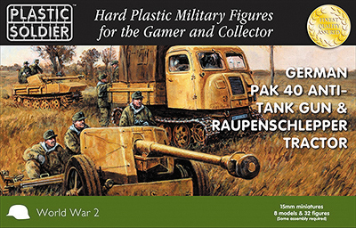 15mm Easy Assembly: Pak 40 And Raupenschlepper Ost Box Front