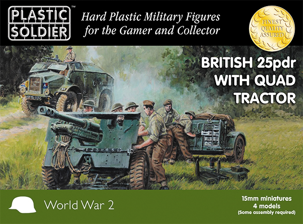 15mm Easy Assembly: British 25 Pdr And Morris Quad Tractor Box Front