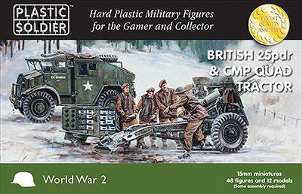 15mm Easy Assembly: British 25 Pdr And Cmp Quad Tractor Box Front