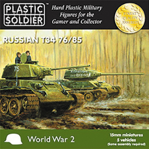 15mm Easy Assembly: Russian T34 76/85 Tanks Box Front