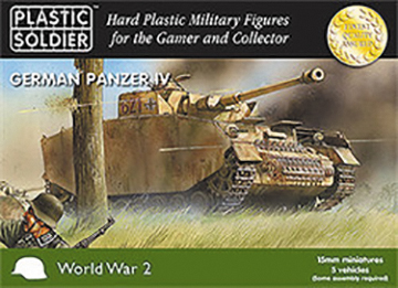 15mm Easy Assembly: German Panzer Iv Tank Box Front