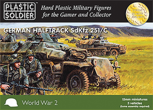 15mm Easy Assembly: German Sdkfz 251 Ausf C Half Track Box Front